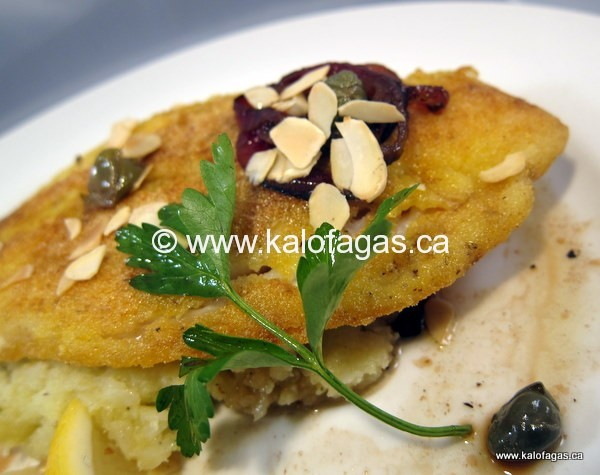 Mastiha & Cornmeal Crusted Flounder