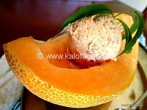 Lemon Verbena and Melon Ice Cream
