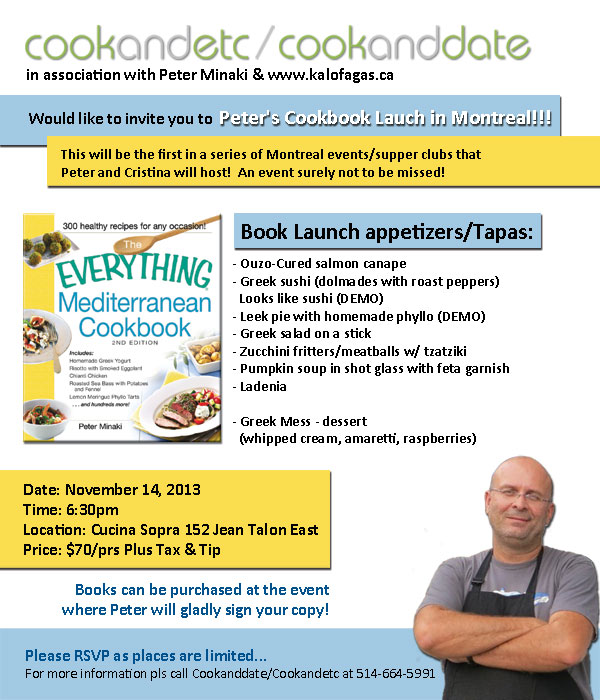 Everything Mediterranean Cookbook Launch in Montreal!