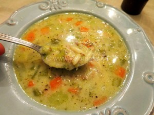 Chicken Avgolemono With Vegetables and Kritharaki