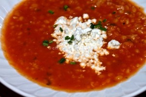 Roasted Tomato Soup with Bulgur