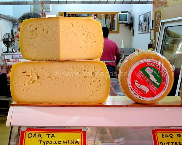 Cretan Graviera, Hania central market