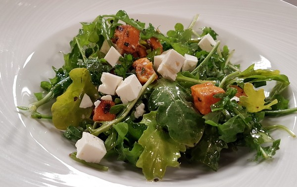 Arugula Salad With Sweet Potato and Feta