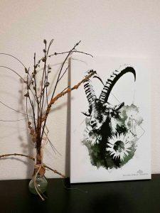 HelvEdition capra ibex artwork by Ka L-O-K