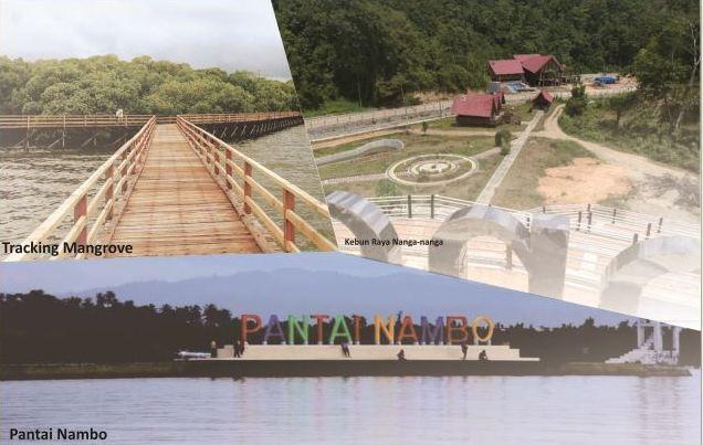 Ketgam : Kolase ketiga objek wisata Kota Kendari yang disiapkan Dispar Kendari