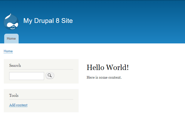 Drupal Hello World