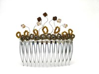 Handmade hair slides with Swarovski crystals of your choice.
