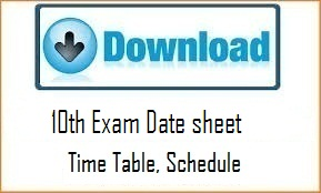CG Board 10th Time Table 2017, #CGBSE High School Exam Date Sheet