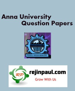 Regulation 2013 4th Semester Previous Question Papers
