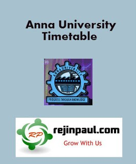 Anna University Exam Time Table Nov Dec 2016 Jan 2017 UG PG 1st 3rd 5th 7th Semester