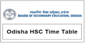 BSE Odisha 10th Time Table 2019