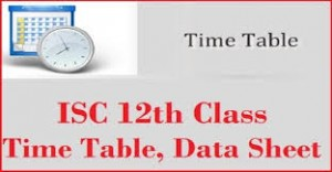 ISC 12th Date Sheet 2019