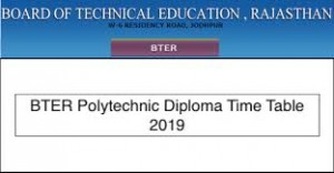 BTER Time Table 2019