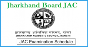 JAC Exam Time Table 2019
