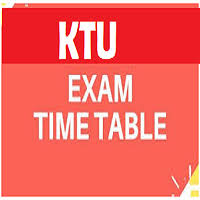 KTU Time Table 2018-19