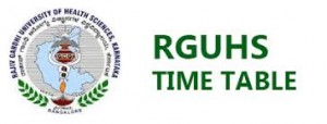 RGUHS Exam Time Table 2019