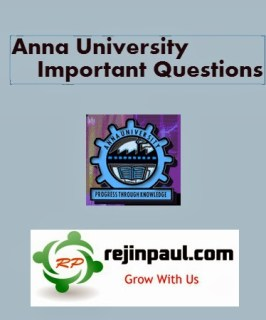 Anna University April May 2019 Important Questions