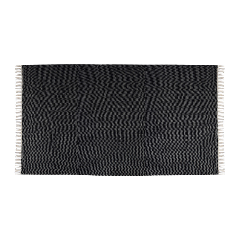 le grand tapis berbere noir blanc