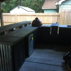 Do It Yourself Outdoor Kitchen Contemporary Island Going From A Table To An Page 3