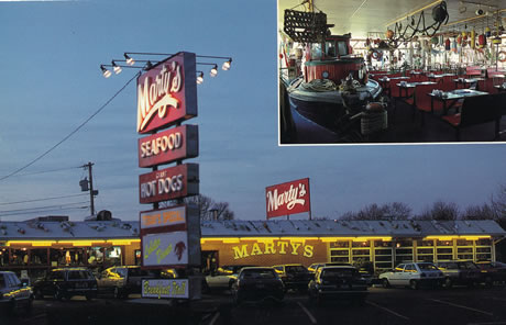 postcard of Marty's restaurant
