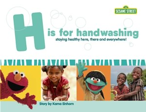 Book cover: H Is for Handwashing