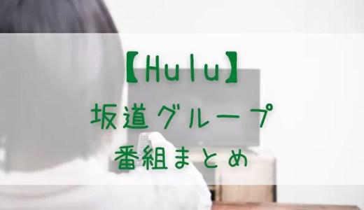 【Hulu】乃木坂46・櫻坂46・日向坂46の出演番組まとめ