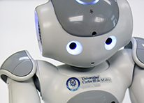 Imagen del robot humanoide social Nao. UC3M