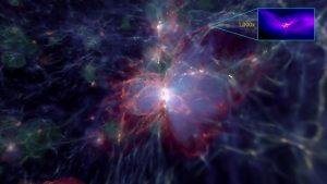 El ensamblaje violento de las galaxias provoca la formación de agujeros negros