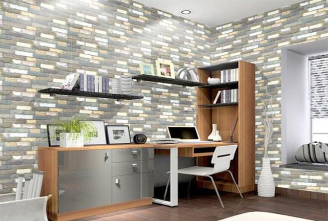 Wallpaper kamar tidur batu alam