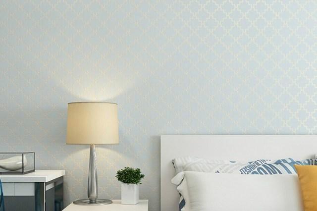 Wallpaper kamar tidur biru langit