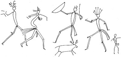 Geographica Indica: A hunting scene from a prehistoric cave