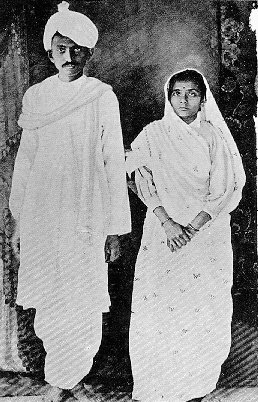 Young Gandhi with Wife Kasturba