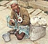 A patient of Leprosy takes to begging as his means of living