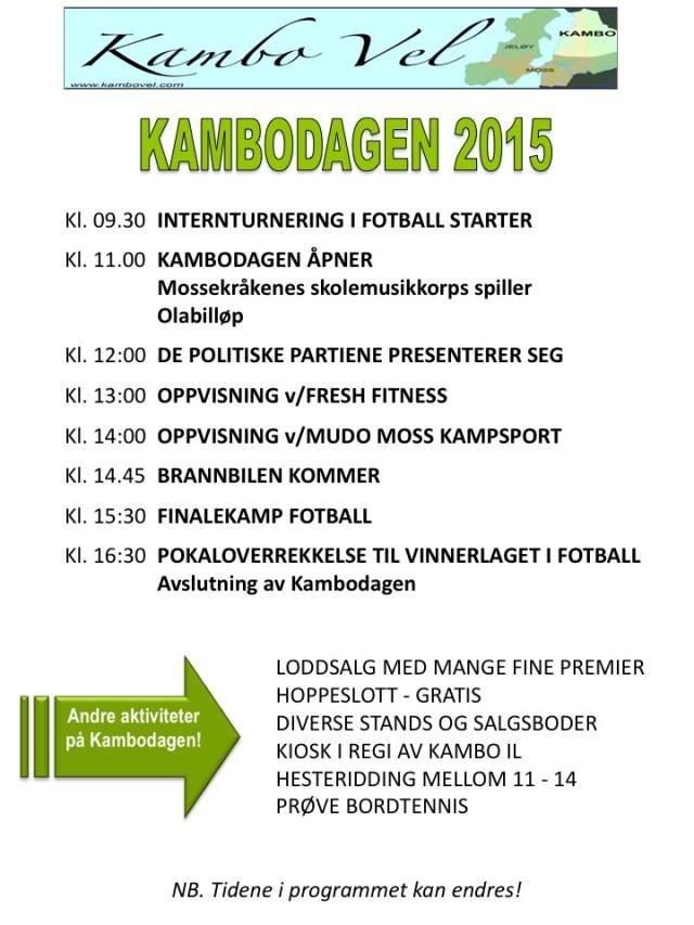 Program Kambodagen 2015