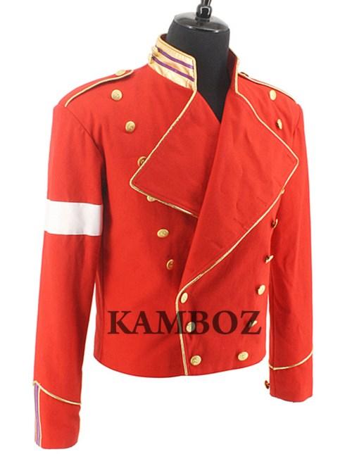 Michael Jackson Red Military Jacket V2
