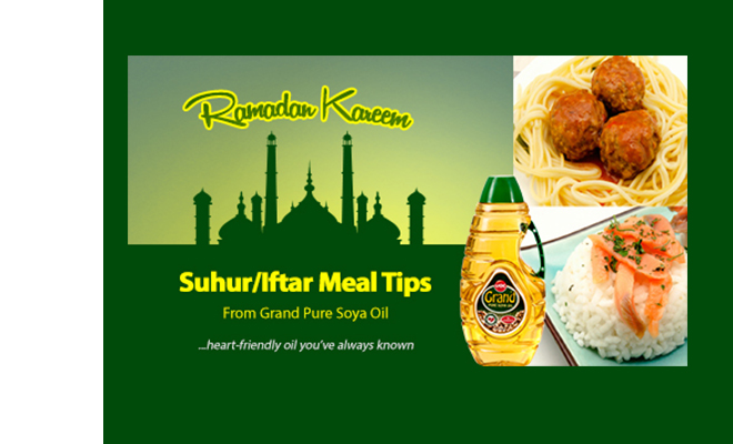 Ramadan Meal Tips for Grand Pure Soya Oil