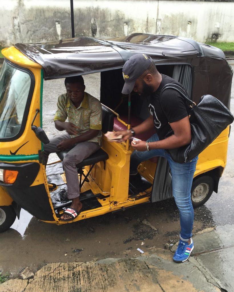 "Igwe Oraifite Poto: Noble Igwe Boards ""Keke Napep"", Says ""In Lagos, You Cannot"