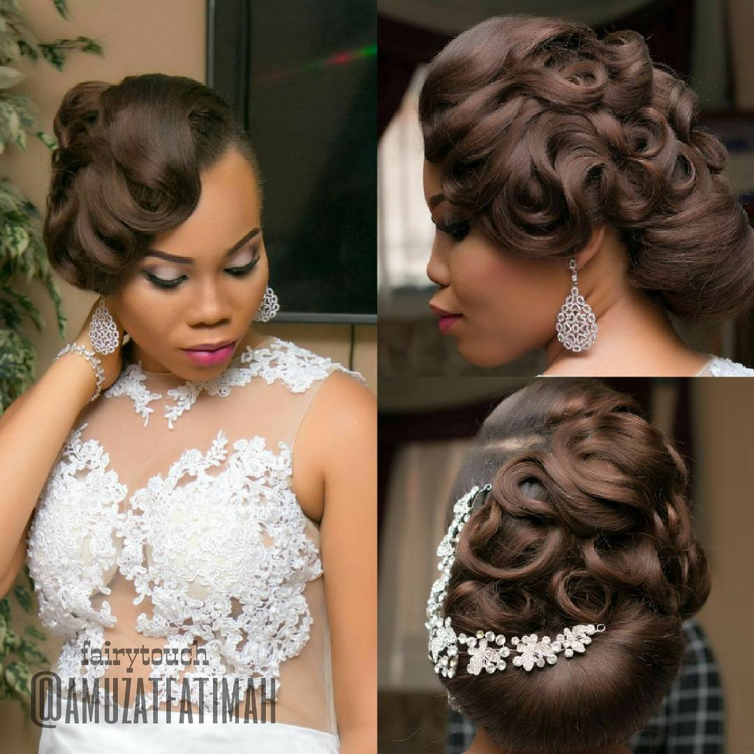Wedding Hairstyle For Bride: 16 Gorgeous Wedding Hairstyles For Nigerian Brides By Hair