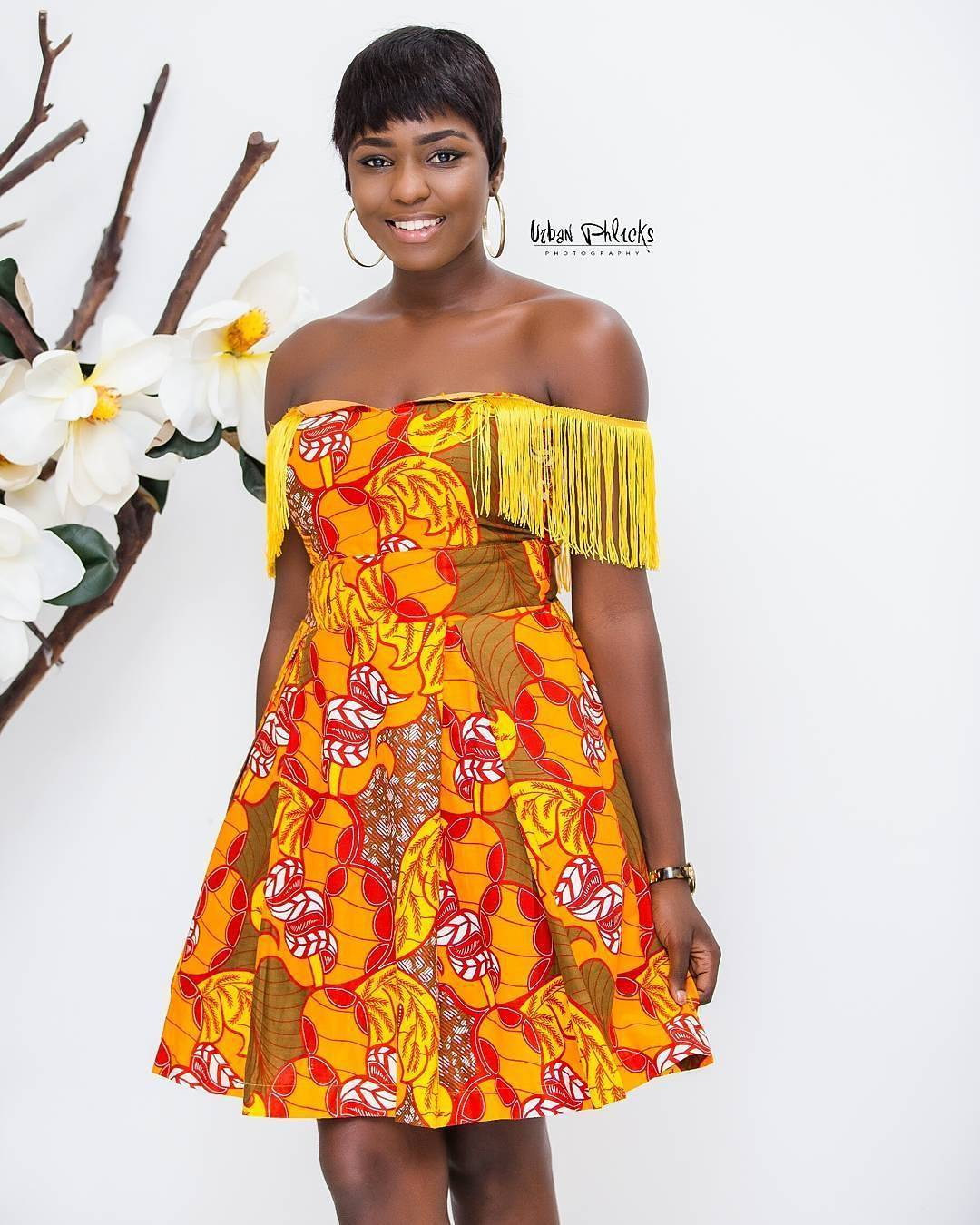 Latest Fringe Style For Every Fashionista-Ankara/Lace Fringe Combo
