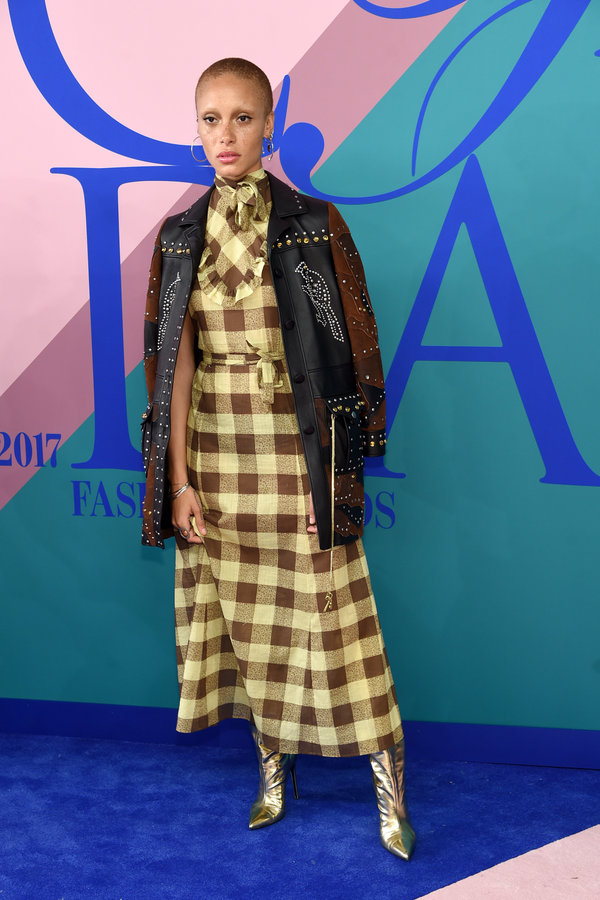 NEW YORK, NY - JUNE 05:  Adwoa Aboah attends the 2017 CFDA Fashion Awards at Hammerstein Ballroom on June 5, 2017 in New York City.  (Photo by Jamie McCarthy/WireImage)