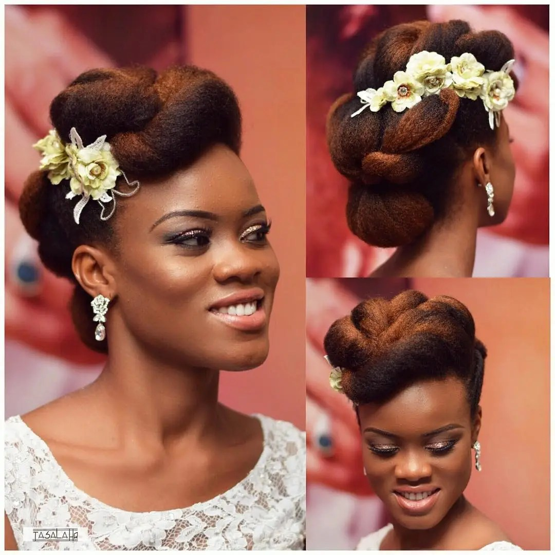 natural hair bride 1