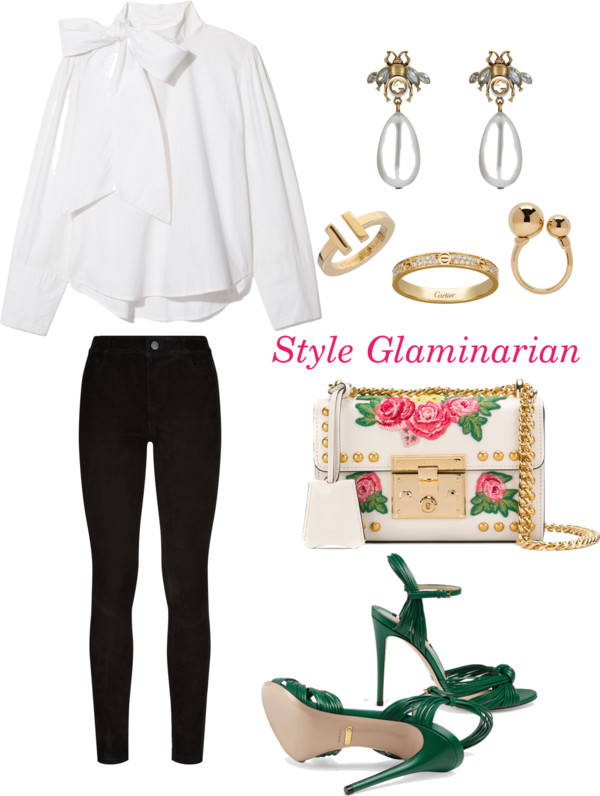green looks for the weekend for style glaminarian's pick 3