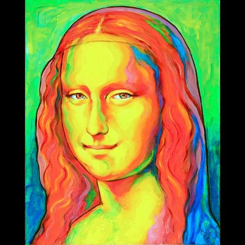 Portraits aux couleurs saturées représentant des figures artistiques, intellectuelles, engagées, etc....