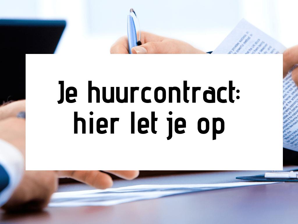 standaard huurcontract