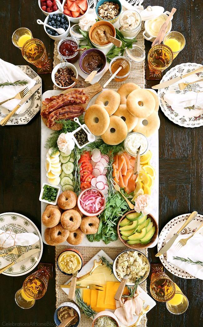 Een alternatief paasbuffet: de Bagel Brunch