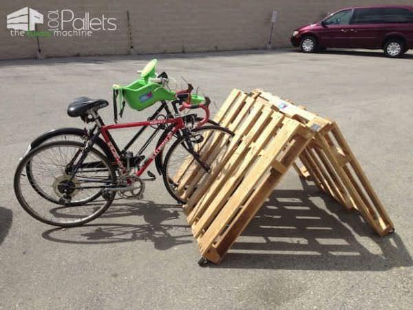 fietsenrek pallet