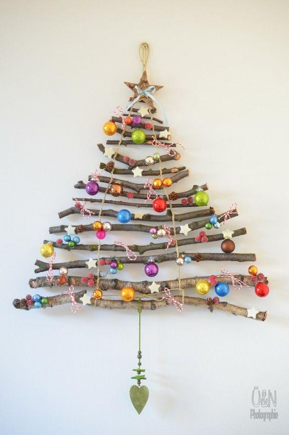 kerstboom van boomtakken