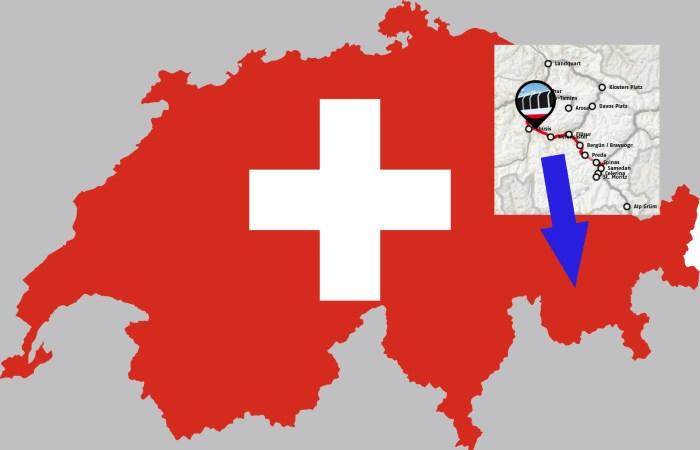 Albuladalen i Sveits