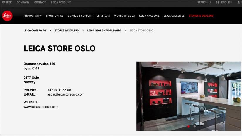 Leica Store Oslo