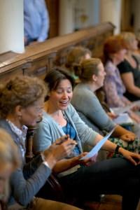 Oefenen in de kapel